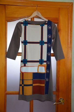 Платье коричневое рукав три четверти