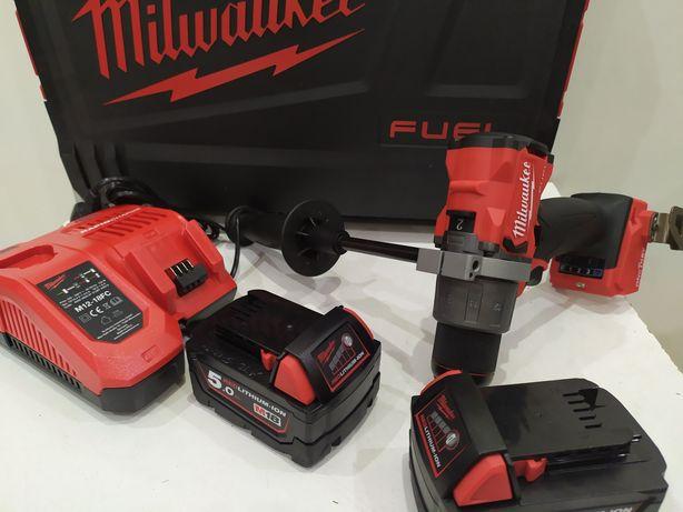 Milwaukee M18 ONEPD2 Fuel Oney key 2x5.0ah wkrętarke udar LED NOWA