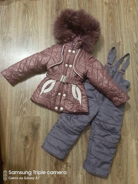 Зимний костюм, комбинезон на девочку, 2-3 года
