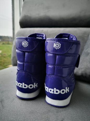 Zimowe kozaki buty Reebok 38 wodoodporne sportowe modne futerko