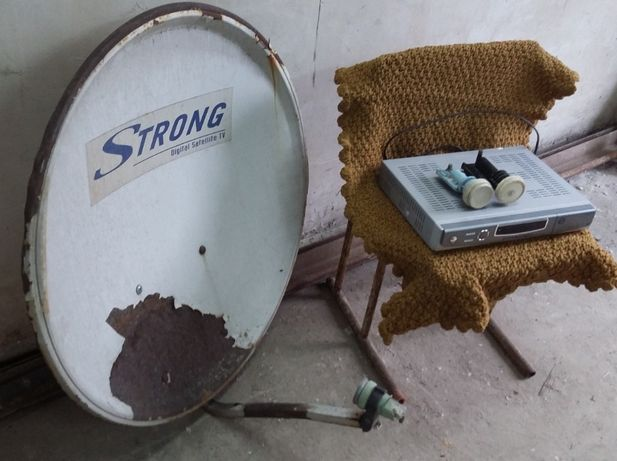 Спутниковая тарелка и 2 конвертера в ПОДАРОК
