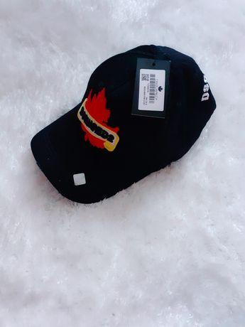 Czarna czapka z daszkiem dsquared unisex