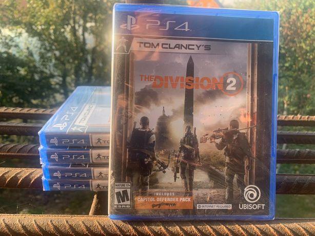 Игры PS4 диск Tom Clancy's the Division 2 (новый запечатанный)