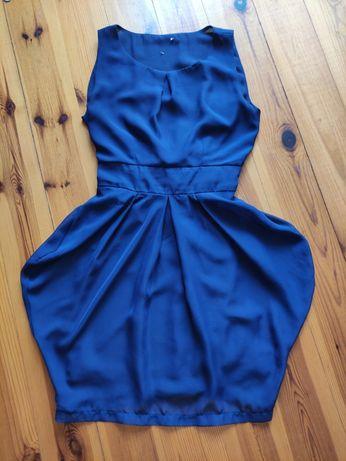Sukienka granatowa tulipan ASOS XS