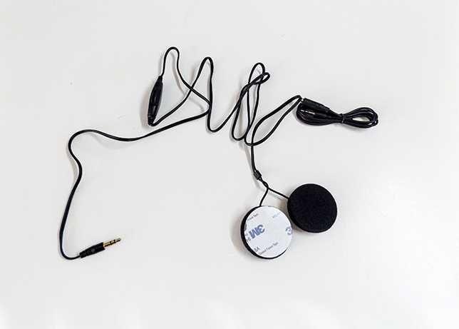Auricular capacete moto/mota por conexao plug and play