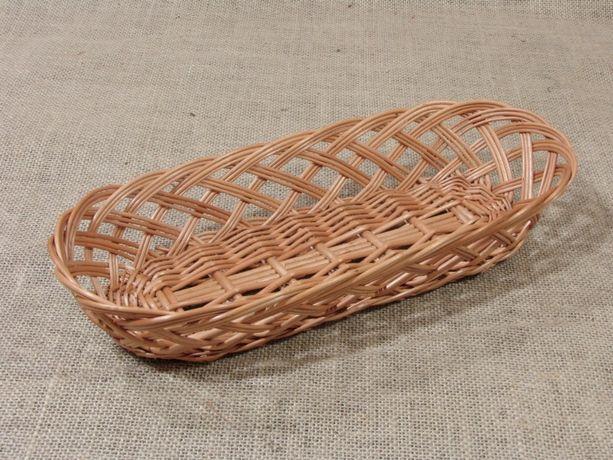 Poręczny i praktyczny koszyk z wikliny na pieczywo i jajka. Nowy