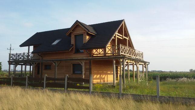 3 działki budowlane + dom modrzewiowy - obrzeża Ciechocinka