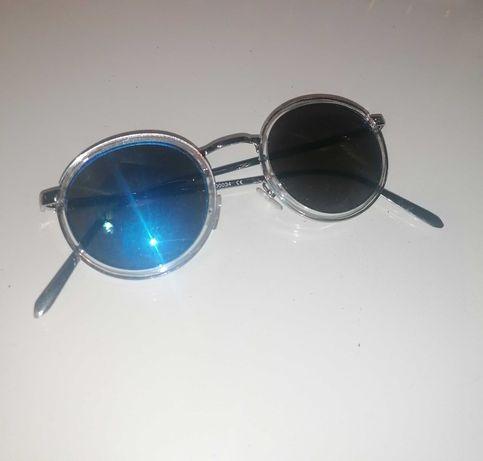 Óculos de sol espelhados redondos