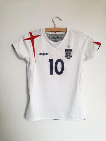 Koszulka sportowa 146 cm 10-11 lat Umbro Owen 10 biała śliska t-shirt