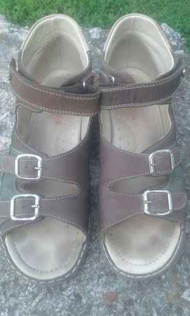 Ортопедические кожаные сандали босоножки для мальчика 36 размер