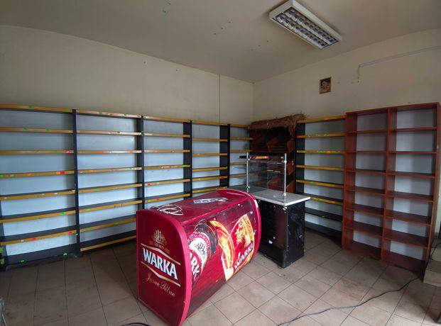 Zestaw mebli sklepowych oraz lada chłodnicza
