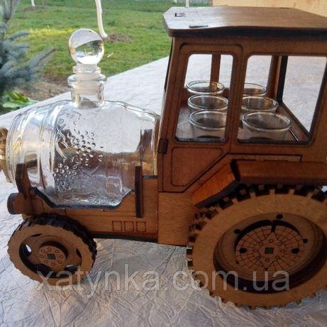 Мини бар для алкогольных напитков подарочный набор сувениры рюмки