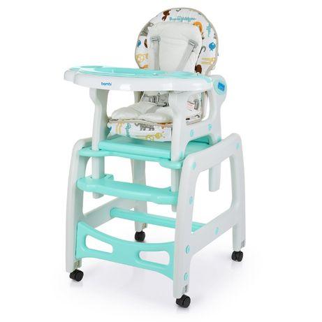 Детский стульчик для кормления BAMBI M 1563 ANIMAL MINT