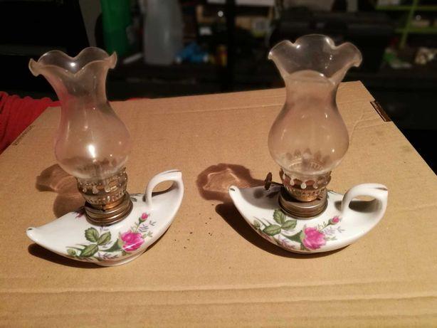 Lampka naftowa, porcelana, cena za sztukę