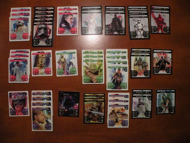 karty star wars kolekcja kaufland sprzedam