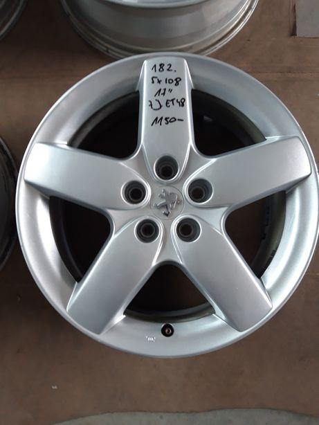 182 Felgi Aluminiowe ORYGINAŁ PEUGEOT R17 5x108 ŁADNE