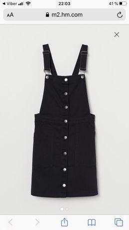 Жіночий джинсовий чорний сарафан, комбінезон H&M, Hm