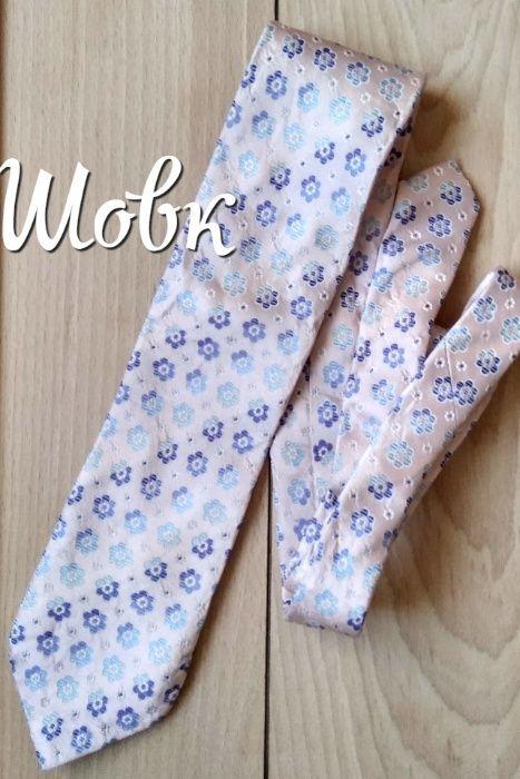 Краватка з шовку в квіти\шелковой галстук в цветочек Коломыя - изображение 1