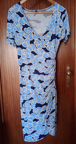 Crossover vestido de manga curta