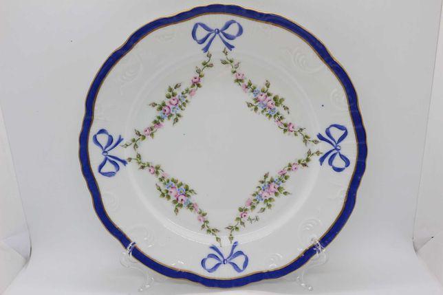 Prato Vista Alegre decoração Lacinhos Floral Pintado e Assinado Mão