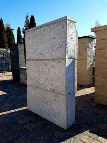 Bloczki ogrodzeniowe, beton architektoniczny
