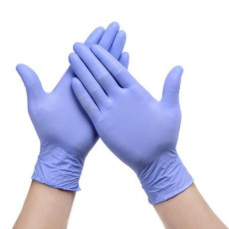 Перчатки нитриловые 200 штук в упаковке для хозяйственно-бытовых дел