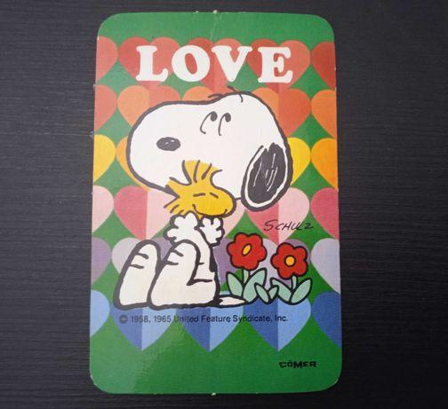 Calendário de Bolso Snoopy Love 1984