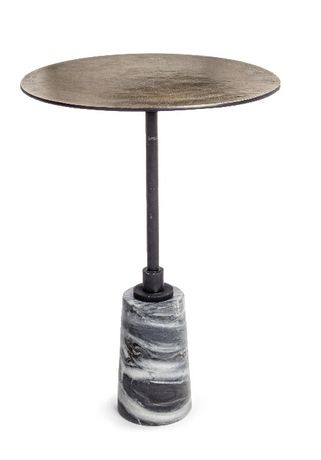 Mesa Apoio Mármore e Alumínio Side Table - NOVO by OVO Home Design