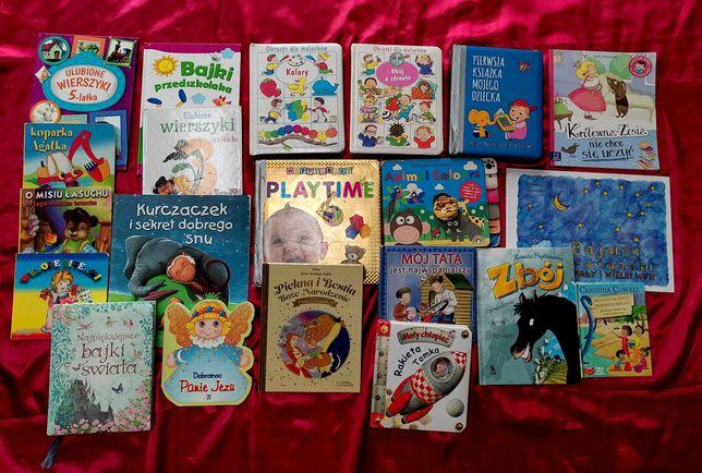 Duży zestaw książek dla dziecka 21 sztuk