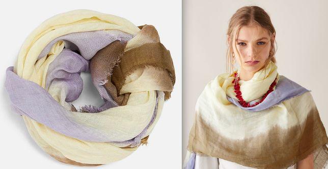 Zara nowy duży szal chusta tie&dye na prezent za pół ceny