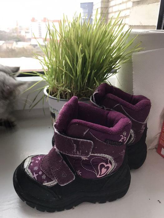 Зимние ботинки  для девочки,22 Луцк - изображение 1