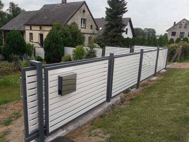 Ogrodzenia panelowe siatki segmentowe betonowe montaż