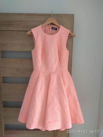 Sukienka żakardowa asymetryczna