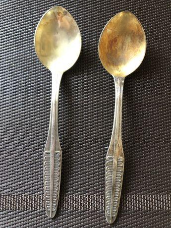 Ложки серебряные десертные ссср