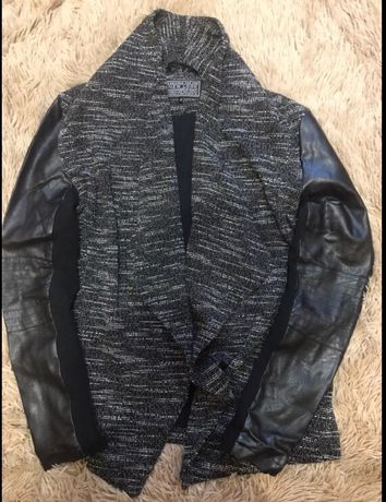 Кардиган ,пиджак, косуха,жакет ,кофта с кожаными рукавами