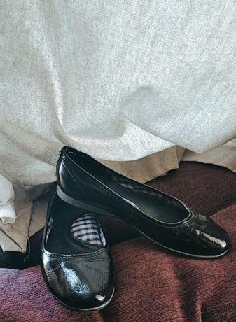 Туфли кожаные детские с ортопедической стелькой   балетки