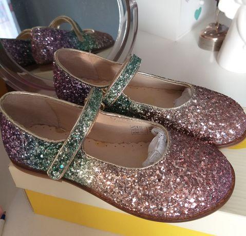 BODEN glitter shoes 29-błyszczące pantofelki,baleriny, półbuty. NOWE