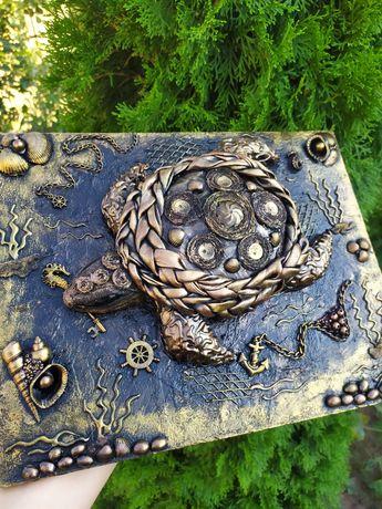 Ключница, Панно,креативный подарок, стимпанк, черепаха