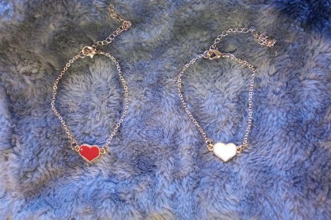 Стильный браслет сердце на цепочке женский НОВЫЙ