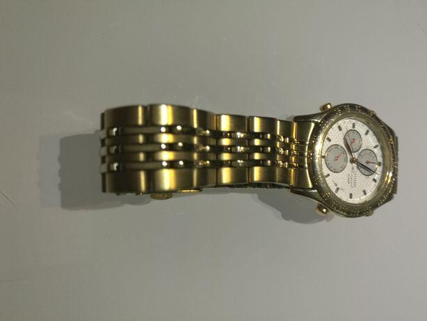 Citizen chronograph pozłacany