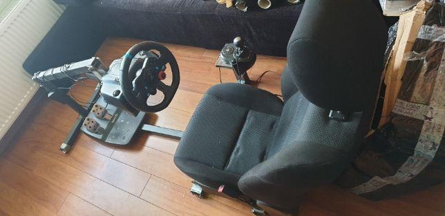 Kierownica Logitech G29 + pedały + shifter + fotel + stelaż