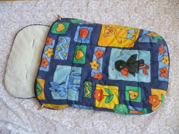 Ciepły kolorowy śpiwór śpiworek do wózka na zimę