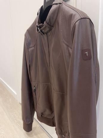 Кожаная (шкіряна) куртка Trussardi Jeans, не Boss, Armani
