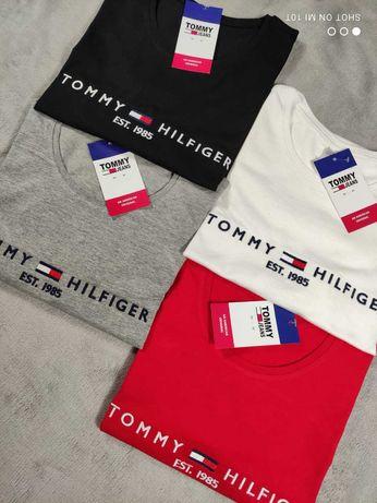 Damska koszulka premium wyszywana tommy TH hilfiger S M L XL XXL