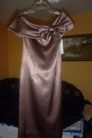 nowa złota sukienka 36 S