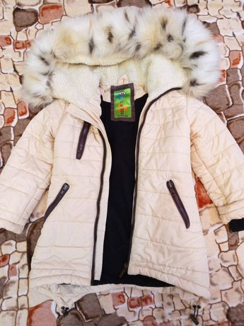 Зимнее пальто р.98