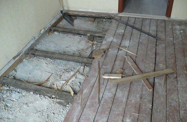 Демонтаж деревянных полов дверей. Вывоз Мусора.