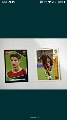 Cromos Cristiano Ronaldo euro 2004 e euro 2008