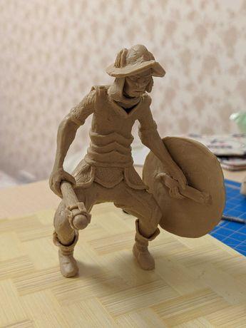 Фигурка - Статуэтка Гоблин в броне, с оружием. Ручная работа