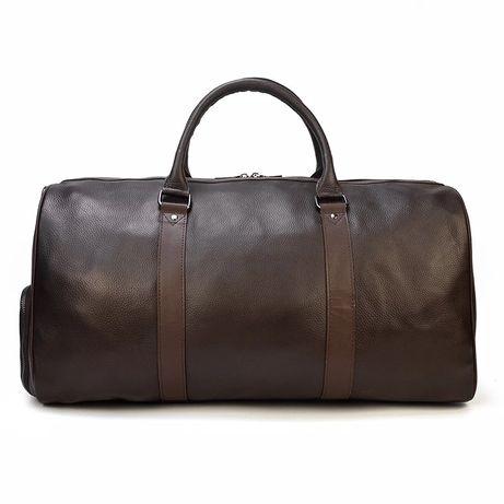 Męska skórzana torba podróżna